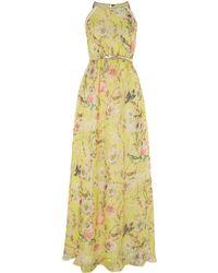 Louche Bird Print Maxi Dress with Belt - Lyst