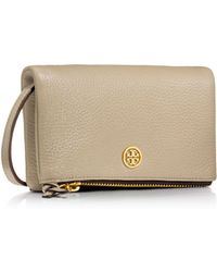 Tory Burch Robinson Pebbled Mini Foldover Crossbody - Lyst