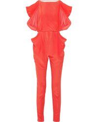 Vionnet | Draped-Back Silk Jumpsuit | Lyst