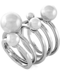 Vince Camuto - Faux Pearl Rings - Lyst