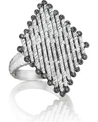 Coomi - Spring Silver Diamond-shaped Ring - Lyst