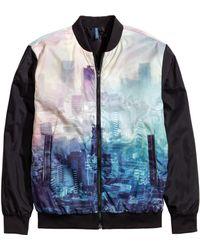 H&M Bomber Jacket multicolor - Lyst