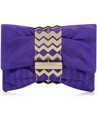 Jimmy Choo Cayla Clutch purple - Lyst