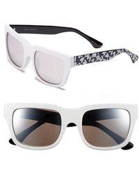 Isaac Mizrahi New York - 53mm Retro Sunglasses - Lyst