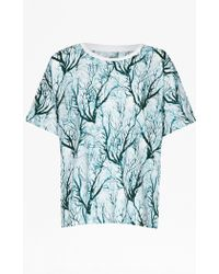 French Connection Sea Fern Holiday T-Shirt multicolor - Lyst