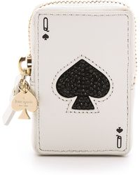 Kate Spade Place Your Bets Playing Card Coin Purse - Queen Of Spades - Lyst