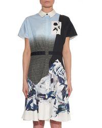 Prabal Gurung Ombré-Effect Marble-Print Shirt Dress - Lyst