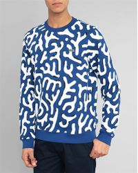 Lacoste L!ive Abstract Print Sweatshirt - Lyst