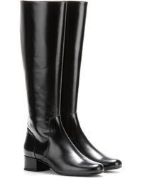 Saint Laurent Babies Leather Knee Boots - Lyst