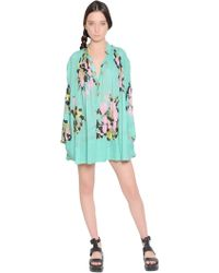 Yvonne S Floral Printed Cotton Voile Dress - Lyst