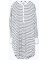 Zara Striped Tunic - Lyst