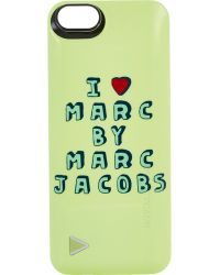 "Marc By Marc Jacobs I Heart Marc"" Iphone 5/5S Case & Boostcase green - Lyst"