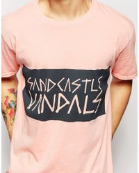 Zee Gee Why - Exclusive To Asos T-shirt Rookie Sand Castle Vandals Print - Lyst