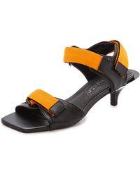 Cheap Monday - Kitten Heel Velcro Sandals - Black - Lyst