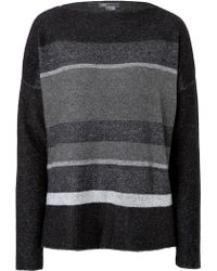 Vince Woolcashmere Striped Pullover - Lyst