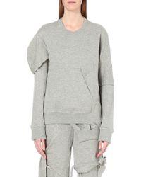 Nicopanda - Deconstructed Cotton-jersey Sweatshirt - Lyst