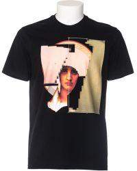 Givenchy Black T-Shirt Cuban Fit Printed black - Lyst