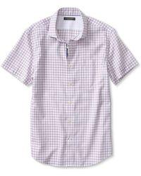 Banana Republic Tailored Slim-Fit Non-Iron Check Short-Sleeve Shirt - Lyst