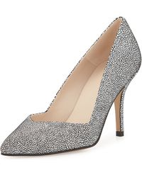 Andre Assous   Steph Pointed-toe Leather Pump   Lyst