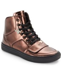 Creative Recreation Metallicleather Hightop Sneakersbronze - Lyst