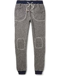 Band Of Outsiders Striped Loopback Cottonblend Sweatpants - Lyst