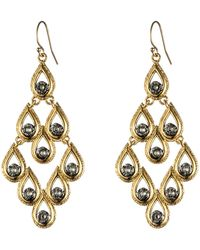 Alexis Bittar Crystal Scalloped Teardrop Earrings - Lyst
