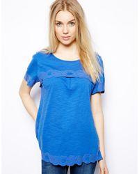 Colorblock Color Block Tshirt with Tonal Print - Lyst