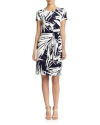 Lafayette 148 New York Printed Knit Dress - Lyst