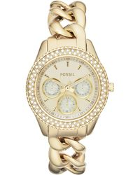 Fossil | Womens Stella Goldtone Stainless Steel Link Bracelet Watch 37mm | Lyst