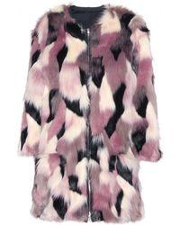 Nina Ricci Faux Fur Coat - Lyst
