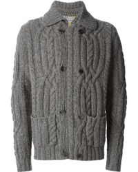 Etro Cable Knit Cardigan - Lyst