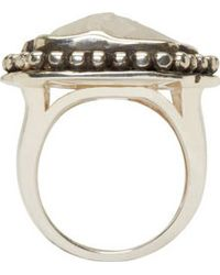 Pamela Love - Silver And Taupe Jasper Ring - Lyst
