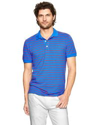 Gap Sunfaded Striped Pique Polo Shirt - Lyst