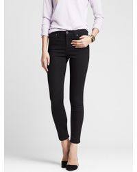 Banana Republic Womens High Rise Black Skinny Ankle Jean  - Lyst