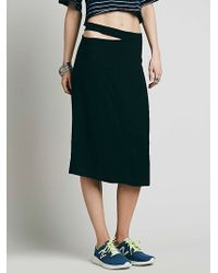 Free People Juliana Midi Skirt black - Lyst