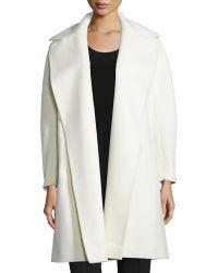 Fleurette - A-line Open-front Wool Coat - Lyst
