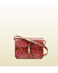 Gucci Jackie Soft Python Flap Shoulder Bag - Lyst