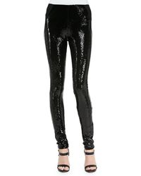 Donna Karan New York Sequined-front Skinny Pants - Lyst