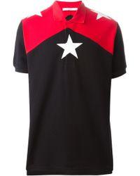 Givenchy Star Motif Polo Shirt - Lyst