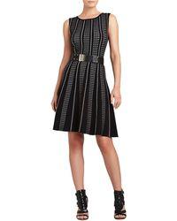 BCBGMAXAZRIA Victoria Sleeveless A Line Dress - Lyst