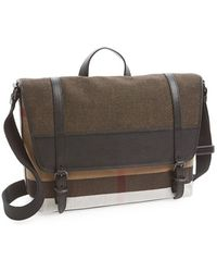 Burberry 'Foster' Canvas Check Messenger Bag - Lyst