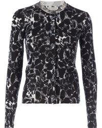 Balenciaga Marble Print Cardigan - Lyst