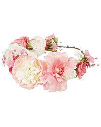 Topshop Elvina Floral Garland pink - Lyst