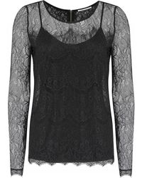 Day Birger Et Mikkelsen Lace Black Night Twirl Long Sleeved Top - Lyst