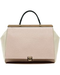Furla Leather Colorblock Top Handle Bag - Lyst