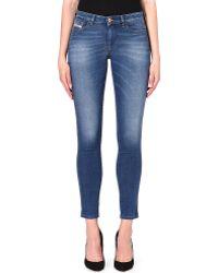 Diesel Doris Skinny Midrise Jeans Blue - Lyst