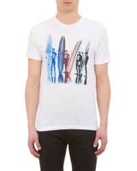 Barneys New York Long Boardersprint Tshirt - Lyst