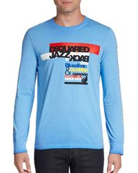 DSquared2 Long Sleeve Text Print Tee - Lyst