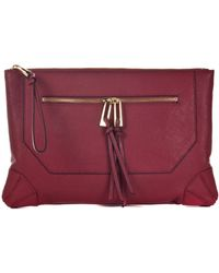 Sanctuary - Leather Seamed Clutch - Lyst