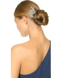 Ben-Amun - Crystal Swirl Hair Comb - Clear - Lyst